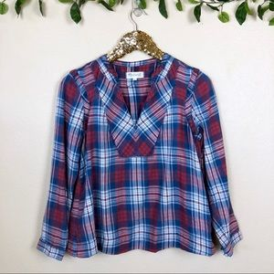 Madewell • Indigo Dyed Popover In Casey Plaid
